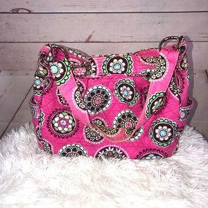 Vera Bradley Pink Floral Shoulder Bag Purse
